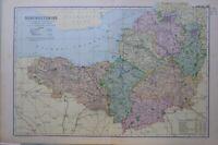 1895 Mappa Somersetshire Bridgwater Fromer Bristol Keynsham Bagno Yeovil