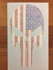 Punisher American Flag Car Truck Bumper Sticker Decal Vinyl USA Flag