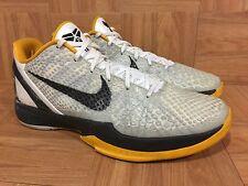 RARE🔥 Nike Zoom Kobe 6 VI White Black Del Sol Neutral Gray Sz 11 429659-103 LE