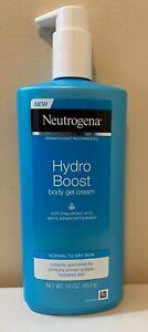 Neutrogena Hydro Boost Body Gel Cream Normal-Dry Skin w Hyaluronic Acid 16 oz