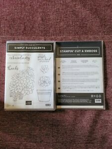 Stampin Up Simply Succulents + Potted Succulents Dies