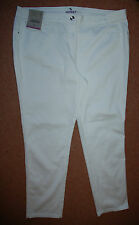 NEW Sz 22 White Cotton Skinny Stretch Jean Jeans Trousers Holiday Summer