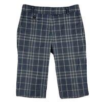 Burberry Brit Capri Pants Shorts Nova Check Women Sz US 4 Navy Blue
