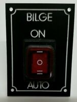 Boat RIB Marine Bilge Pump Switch Panel 20A 12 or 24 volt two pumps one switch
