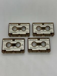 Dictaphone Microcassette 4 Pack (Small Analog Audio Tape Micro Cassette Lot) NOS
