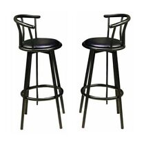 Coaster Home Furniture 2398 Set of 2p Bar Height Chairs Black Swivel Seating