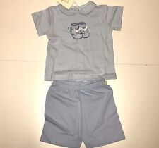 NEW Sottocoperta Boys Blu Shorts/Shirt PAJAMAS 0418J02 16 in waist Sz 6M RTL $85