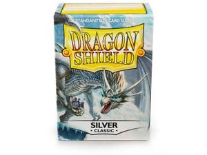 Classic Silver 100ct Dragon Shield Sleeves Standard FREE SHIPPING 10% OFF 2+