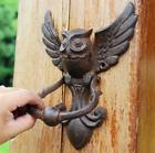 Iron Owl Door Knocker Vintage Decorative Antique Garden Home Decoration Rustic
