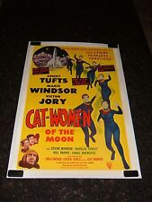 CAT-WOMEN OF THE MOON Original 1954 Movie Poster, C8.5 Very Fine to Near Mint