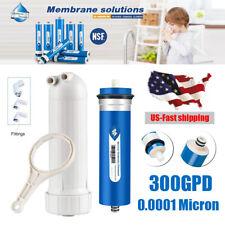 300GPD 0.0001μm RO Reverse Osmosis Membrane Household Filter + Housing High Flow