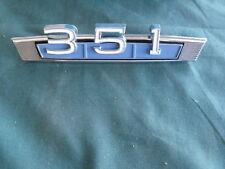 NOS 1969 Mercury Cyclone 351 Emblem OEM FoMoCo Ford 69