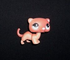 334 LITTLEST PET SHOP FERRET WEASEL CHOCOLATE TAN BROWN BLUE EYES FIGURINE TOY
