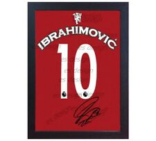 Zlatan Ibrahimovic signed Manchester United t shirt Framed CANVAS 100% COTTON