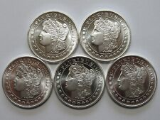 Lot of 5  1 oz. Silvertowne Morgan Design .999 Silver rounds