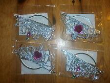 2 x Diadem Krone Prinzessin Kinderschmuck Party Mitgebsel Kindergeburtstag