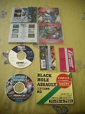 >> BLACK HOLE ASSAULT DX SEGA MEGA CD JAPAN IMPORT CIB WITH SPIN CARD! <<