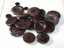 50g x  Mixed Brown / Grey Tone Acrylic Plastic Buttons - Mixed Sizes Craft P70