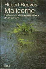 Livre Malicorne réflexions d'un observateur de la nature Hubert Reeves book
