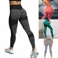 Women High Waist Yoga Leggings Sport Pants Push Up Breath Trousers Gym Workout