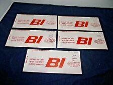 5 Vintage Braniff International Airlines Carbon Ticket Vouchers