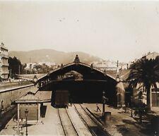 Cannes Gare Train France Plaque M5 Stereo Vintage Positif 6x13cm