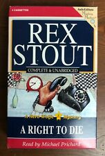 Rex Stout Nero Wolfe Mystery A RIGHT TO DIE Unabridged Audio Book Cassette