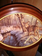 Winter's Calm Woodland Tranquility Deer Plate # 18958 C