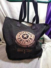 KIPLING BLACK ZIP UO CARRY TOTE ESTABLISHED QUALITY SINCE 1987 IN GOOD CONDITION