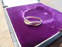 Toller 925 Silber Ring Designer Modern Schlicht Einfach Teil Ver Goldet Bicolor