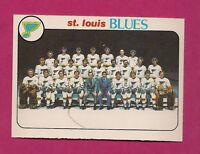 1978-79 OPC # 205 BLUES UNMARKED TEAM CHECKLIST NRMT-MT CARD (INV# 9408)