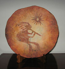 "Kokopelli Pottery Wall Plate ❤ 14"" by Odyssey Creations ❤ Depicts Hopi Deity"