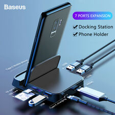 7 In 1 Baseus USB Type-C Phone Power Adapter HUB Docking HDMI Station Charger US
