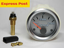 12v VDO 52mm Titanium 250°F WATER TEMP Gauge and Sender Automotive-Marine-4wd