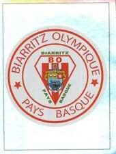 069 ECUSSON BADGE LOGO METAL BIARRITZ OLYMPIQUE TOP 14 STICKER PANINI RUGBY 2010