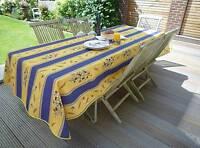 Tischdecke Provence 150x240 cm blau gelb Oliven aus Frankreich, pflegeleicht
