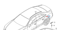 Audi A8 D4 Right Side Exterior C Pillar Trim 4H4853778B NEW GENUINE