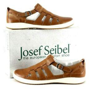 Josef Seibel Men's Closed Toe Leather Sandal UK Size 7 Colour Brandy BNIB