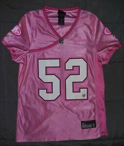 Pink Reebok On Field San Francisco 49ers. Patrick Willis NFL Jersey