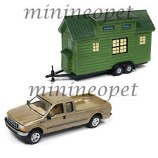 JOHNNY LIGHTNING JLTH001 B TINY HOUSES 2004 FORD F-250 PICK UP TRUCK 1/64 GOLD