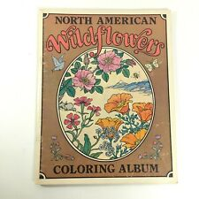 North American Wildflowers Coloring Book Album by Saijo & Kipping Uncolored GUC