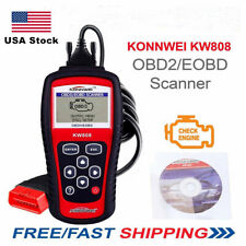 KW808 OBDII Code Reader Scanner Check Engine Light O2 Sensor Test I/M Readiness