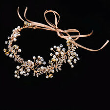 Headband Flower Crown Hair Crystal Bride Wedding Headwear Accessories Decoration