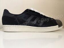 Adidas Originals SUPERSTAR 80's Metal Toe UK10.5 Trainers BLACK PONY HAIR