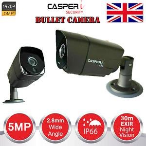 BULLET CCTV 1920P CAMERA 5MP ULTRA HD TVI 3.6MM Lens 30M IR CUT NIGHT VISION UK