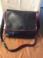 ENRIQUE LOEWE KNAPPE Vintage Black & Brown Leather Hobo Shoulder /Crossbody Bag