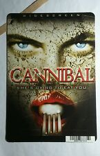 CANNIBAL WOMAN FACE FORK MINI POSTER BACKER CARD (NOT A movie )