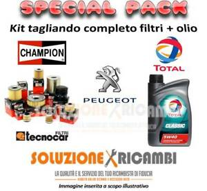 Kit Tagliando Filtri E Olio Peugeot 307 Cc 2.0 16V 100Kw 136Cv 10/03-
