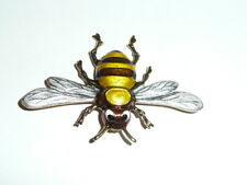 """Buzz The Large Bee Metal Shank Button 2-1/8""""x1-1/2"""" Adorable Metal Bee Button"""