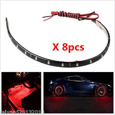 8xRed LED Light Strip Flexible Waterproof Atmosphere SMD Lamp For Car Motorcycle
